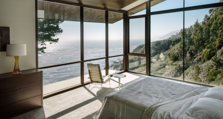Modern Bedrooms Ideas with an Ocean View