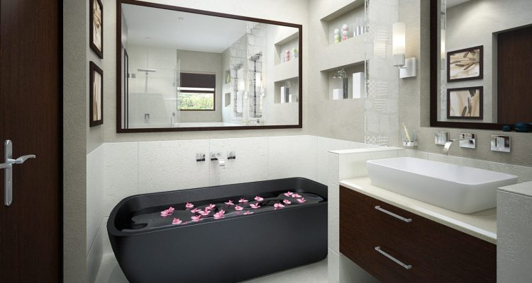 Simple and Cool Colorful Bathroom Design Ideas