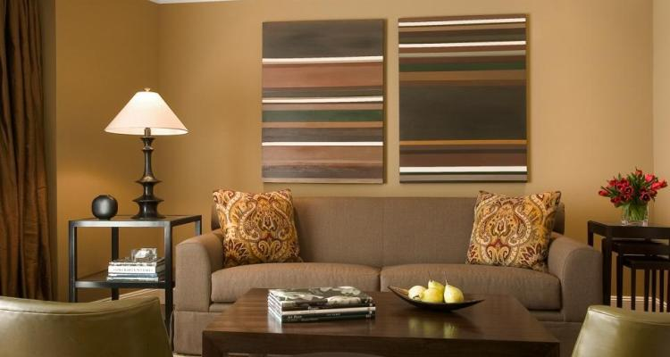Combination of Modern Contemporary Living Room Paint Colors