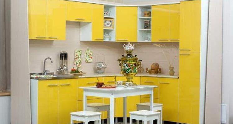 Small Apartment Kitchen Decorating Ideas in Yellow