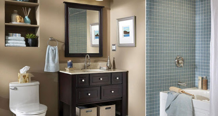 Inexpensive Small Bathroom Makeover Design Ideas