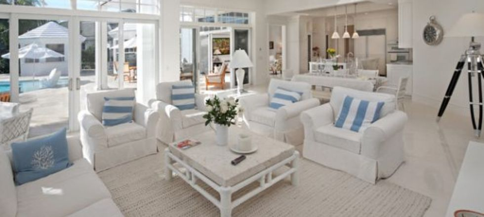 Coastal Style Living Room Decorating Ideas