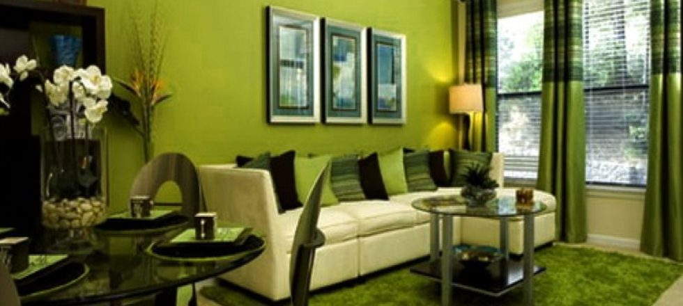 Botanical Green Living Room Color Schemes