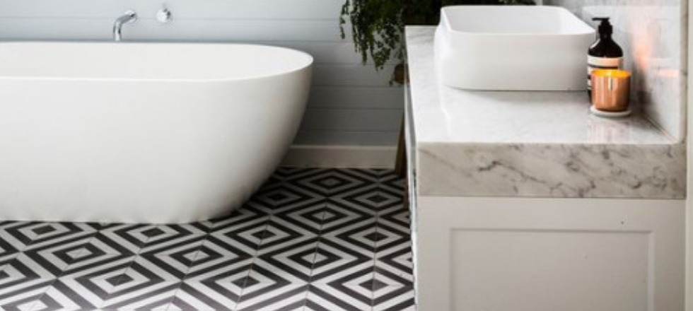 Gorgeous Modern Geometric Decor Ideas for Bathrooms