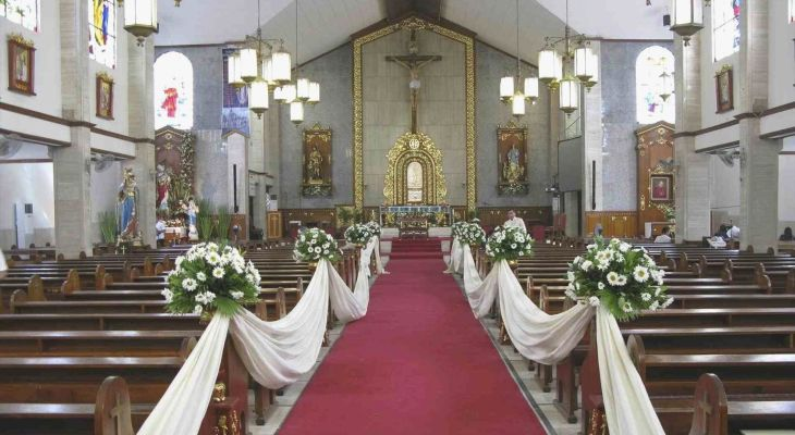 Church decoration for wedding ideas