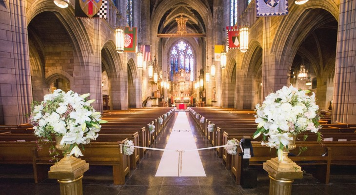 Church wedding decorations diy