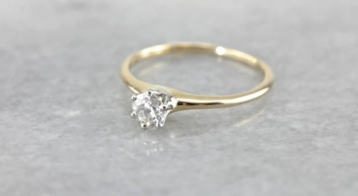 Classic tiffany style engagement ring
