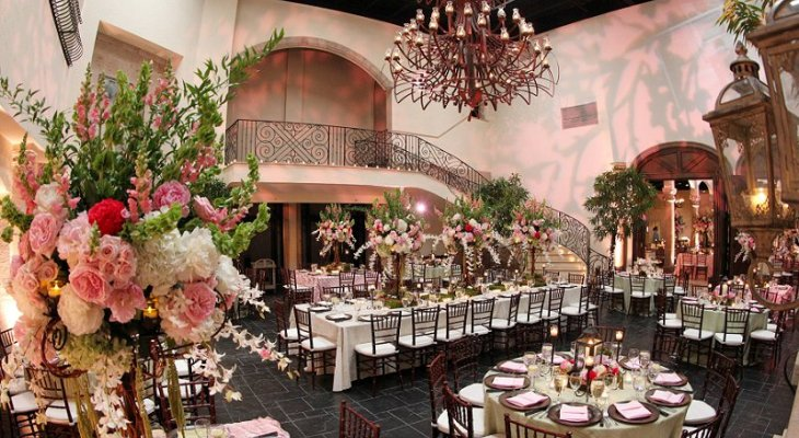 Elegant enchanted wedding theme pink