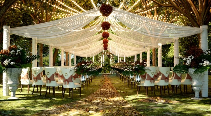 Enchanted wood wedding theme