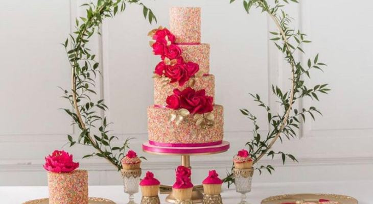 Floral wedding cakes pictures