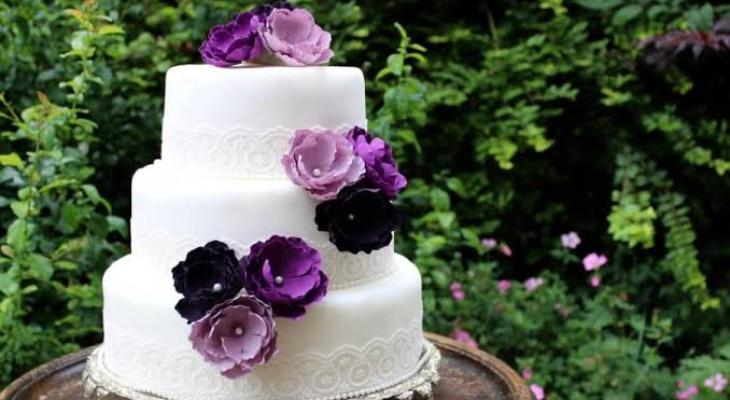 Flower wedding cakes pictures