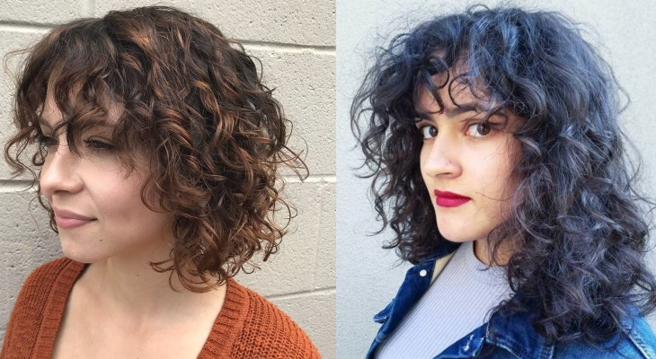 Front Bangs and Messy Curls