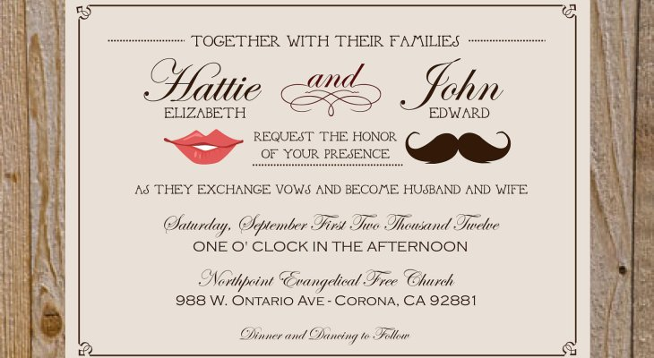 Funny Wedding Invitation Wording From Bride and Groom
