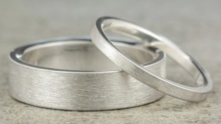 Handmade White Gold Wedding Bands