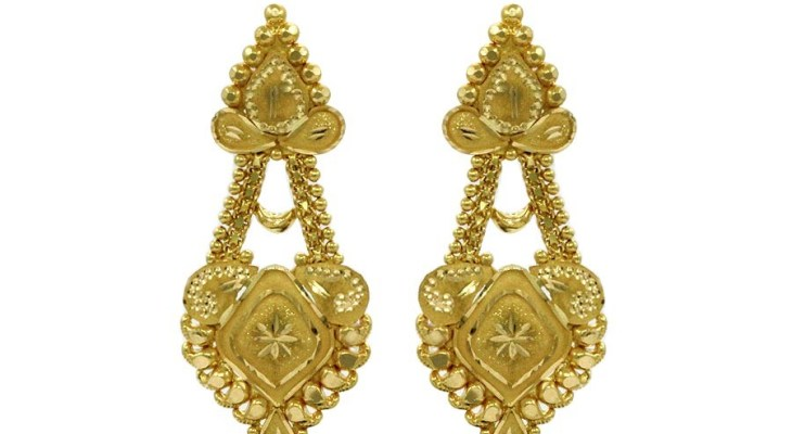 Heavy gold earrings for wedding