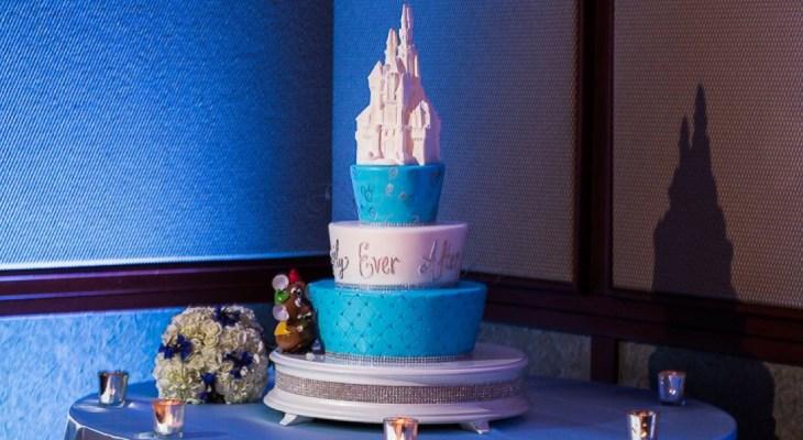 Lighted cinderella wedding cake toppers
