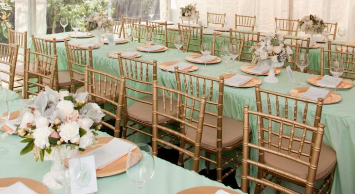Mint green gold and white wedding theme