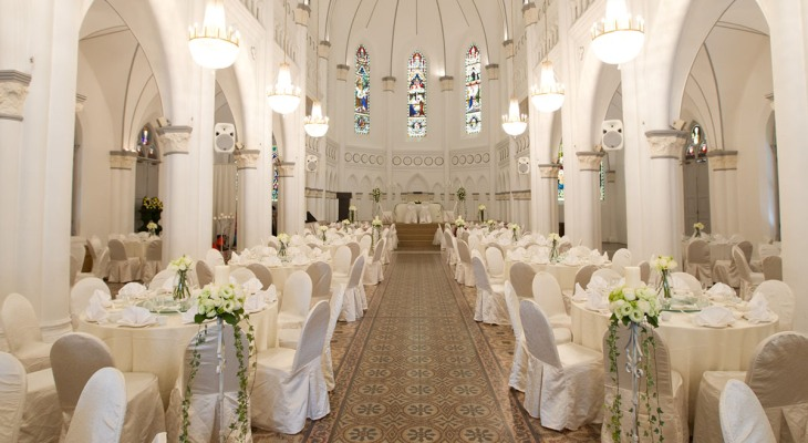 Modern church wedding decoration