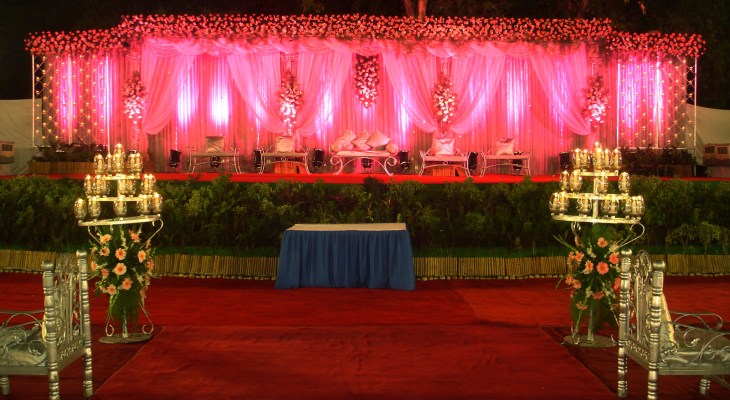 Red carpet wedding decorations