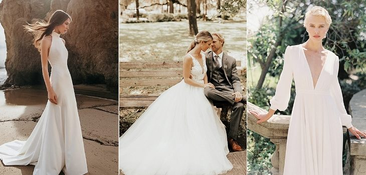Pretty and Simple Wedding Dresses