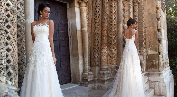 Simple wedding dress low back