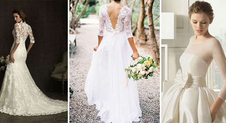 Simple wedding dresses winter