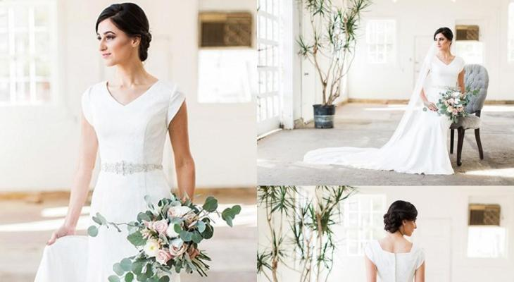 Simple wedding dresses with lace sleeves