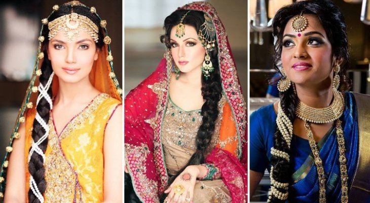 The Jeweled Indian Bridal Hairstyle