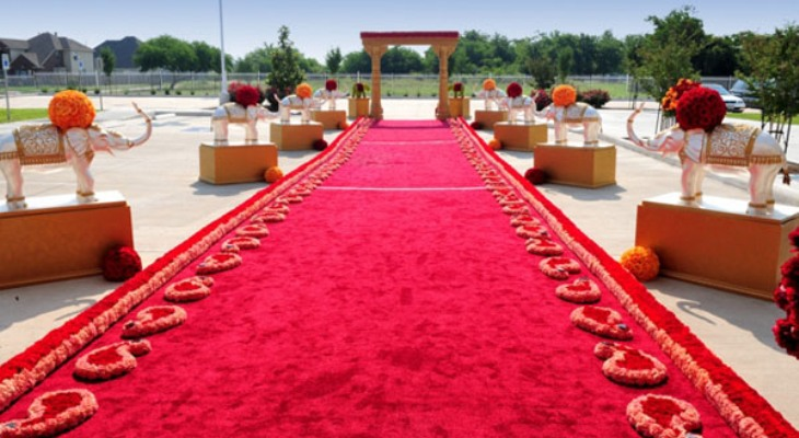 The wedding red carpet