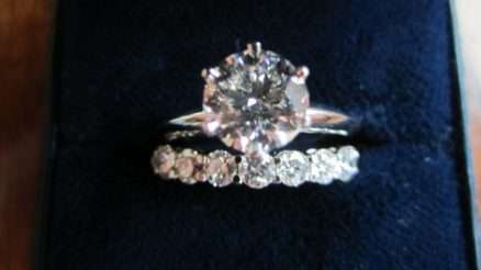 Tiffany Style Engagement Wedding Ring