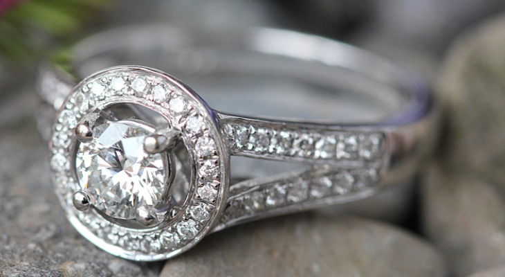 Tiffany style diamond engagement rings