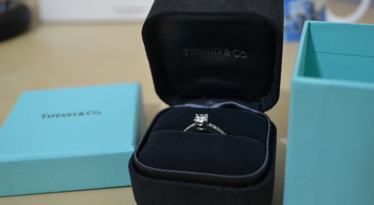 Tiffanys engagement ring box