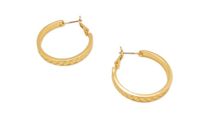 Unique Gold Wedding Band Hoop Earrings