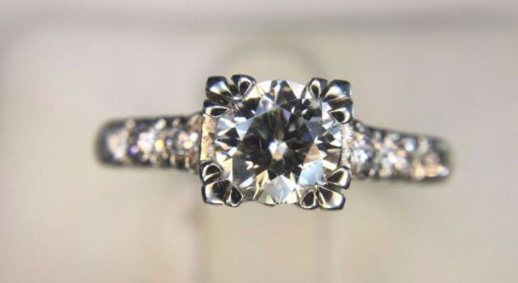 Vintage diamond engagement rings for sale