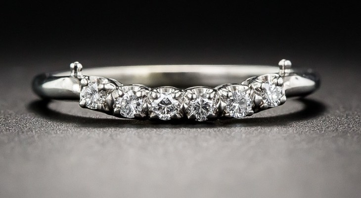 Vintage diamond wedding bands