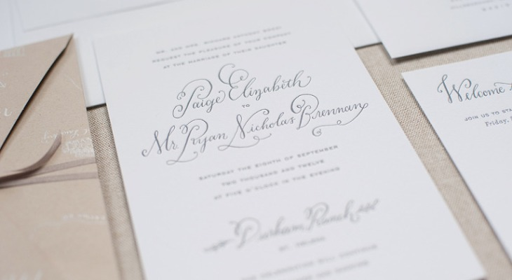 Wedding Invitation Wording Date and Time