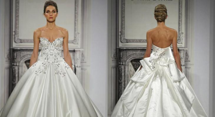 Wedding dresses with big bows