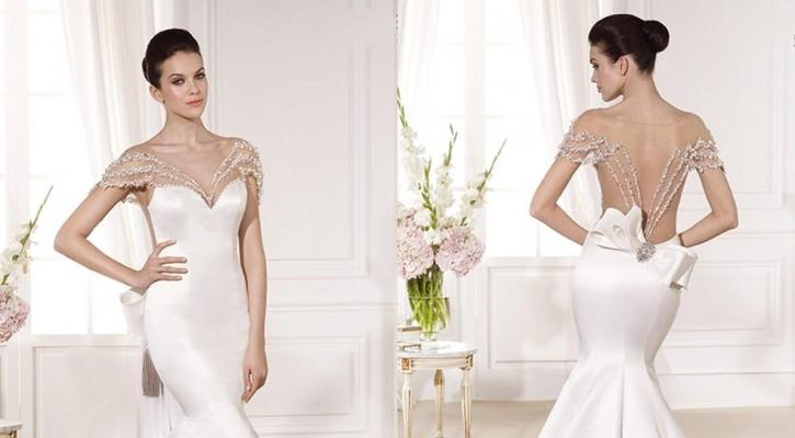 Wedding dresses with large bows