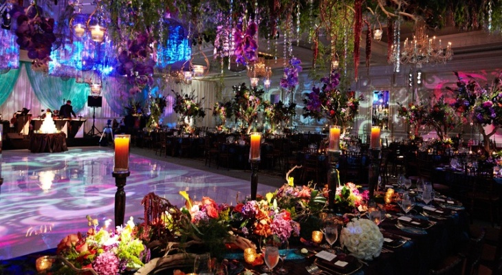 Wedding enchanted forest theme reception