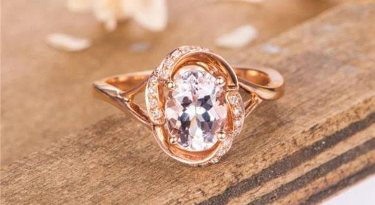Antique engagement ring rose gold