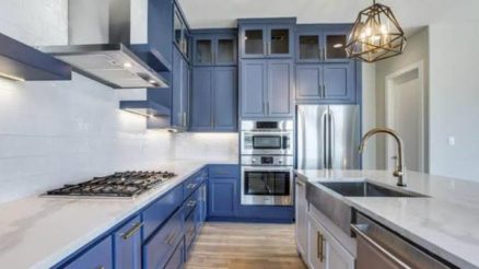 Blue and white Kitchen design ideas