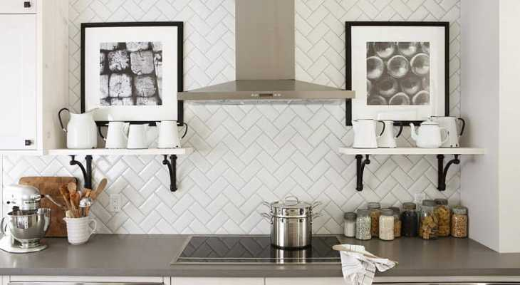 Classic timeless kitchen backsplash