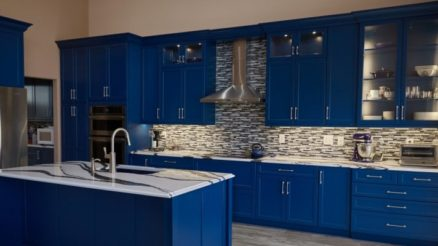 15 Cool Blue Kitchen Ideas with Simple Things