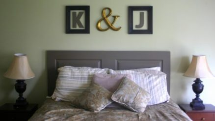 15 Creative DIY Door Headboard Ideas