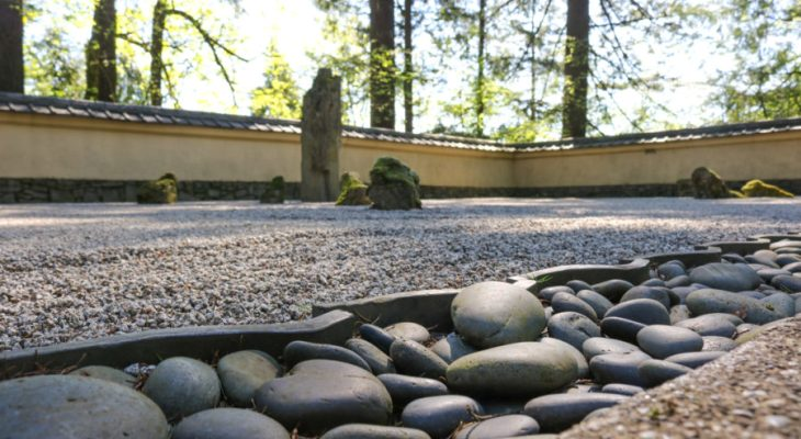 Japanese sand and stone gardens