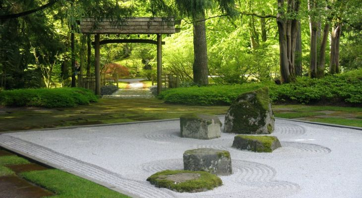 Japanese sand garden ideas