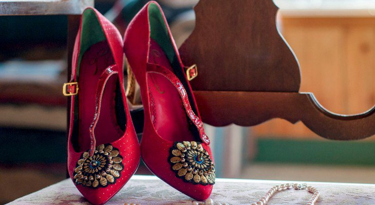Little Red Wedding Heels