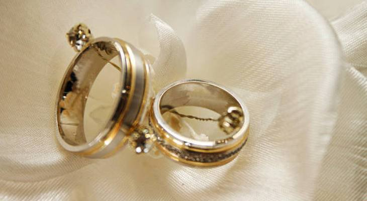 Lovebirds wedding ring