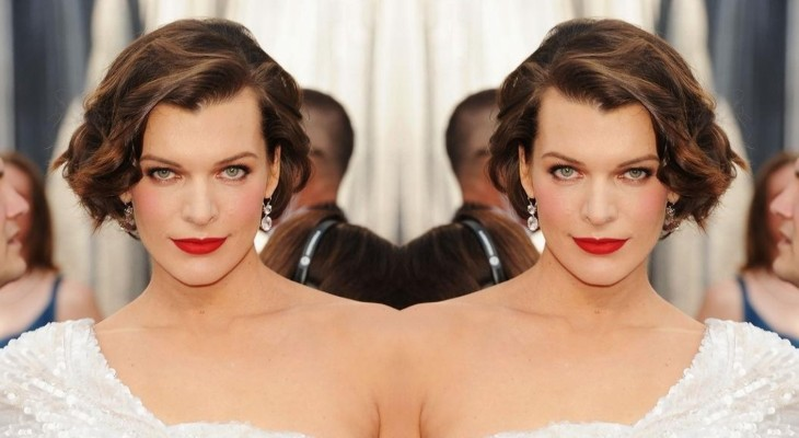 Mila Jovovich's Curly Short Cropped Bob