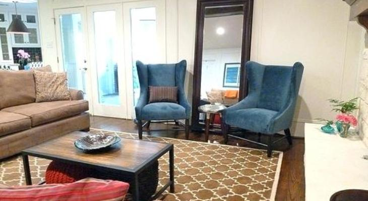Peacock blue chairs for living room